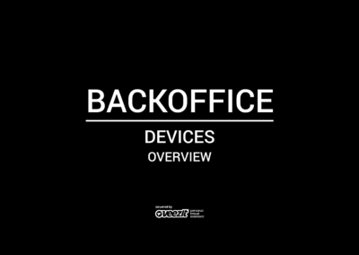 BACKOFFICE – DEVICES – OVERVIEW